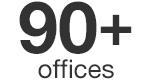 90+ offices