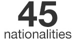 45 nationalities