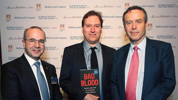 Bad Blood wins 2018 Business Book of the Year Award