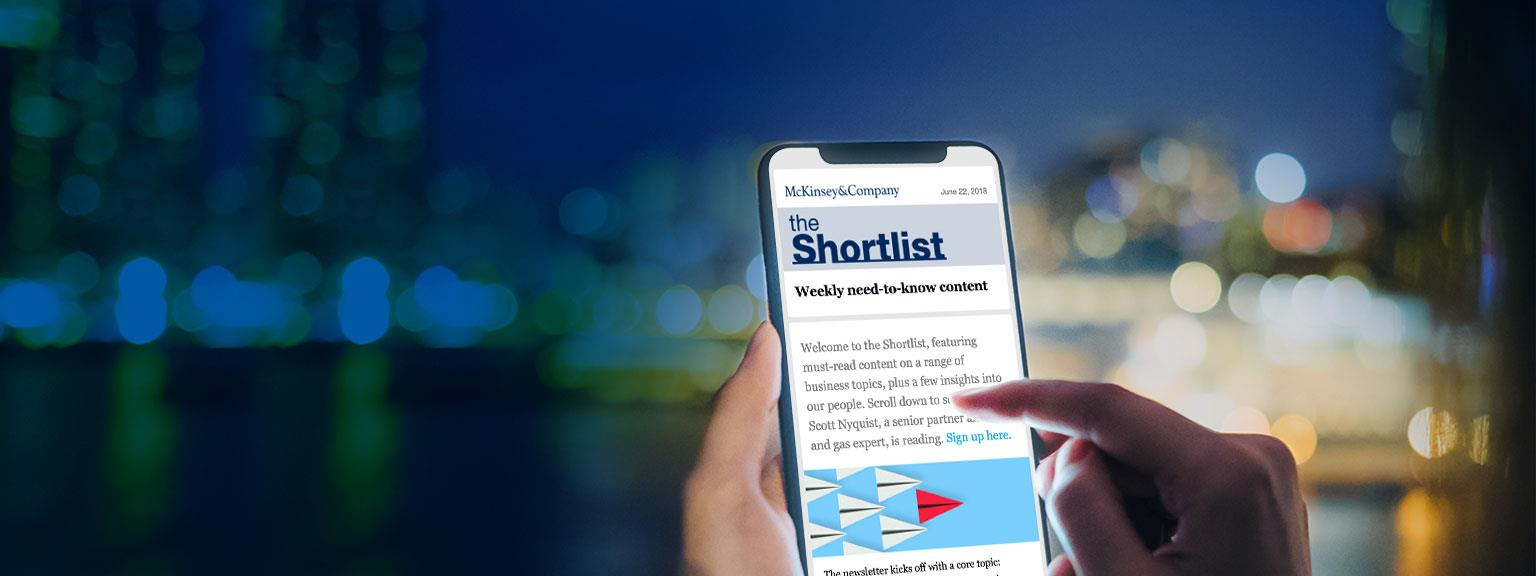 the Shortlist | McKinsey & Company