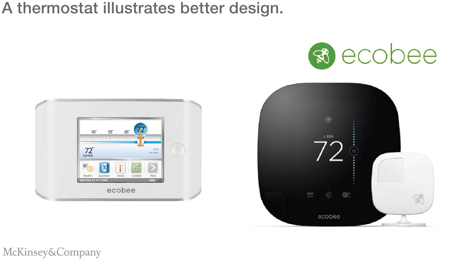 There is more than one company that makers pc enclosures in this world - A Thermostat Illustrates Better Design The Ecobee3 Has Been Recognized In Multiple
