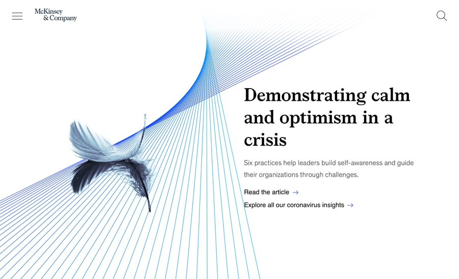 How to demonstrate calm and optimism in a crisis