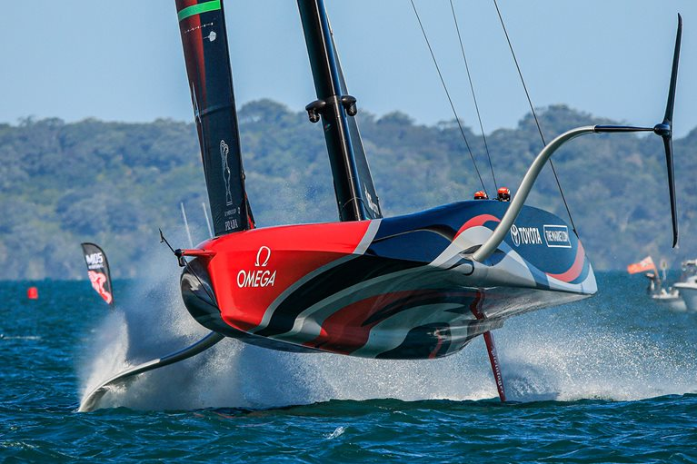 ETNZ flying 1 - Credit, Emirates Team New Zealand